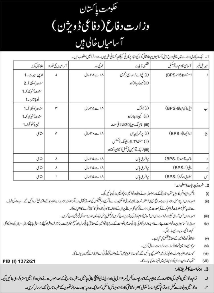 Ministry of defense mod jobs